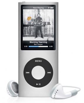 apple ipod nano 4g silver