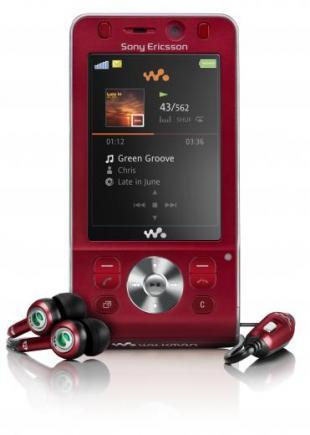 sony ericsson w910i red con auricolari