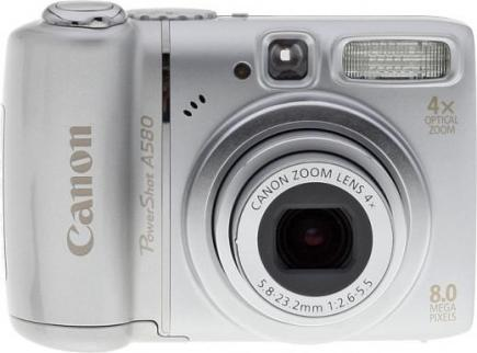 canon powershot a580 fronte