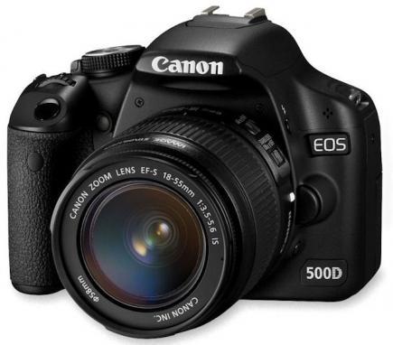 canon eos 500d 3/4
