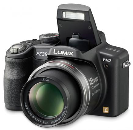 panasonic lumix dmc fz38 top