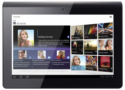sony tablet s fronte