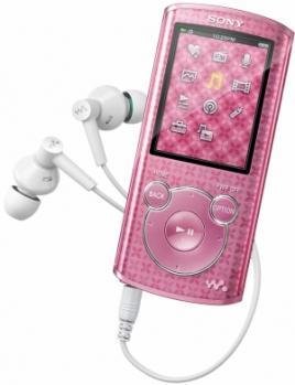 Sony NWZ-E464: Vista Frontale Rosa