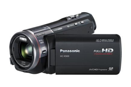 Panasonic HC-X900: vista 3/4 frontale LCD