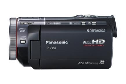 Panasonic HC-X900: vista laterale