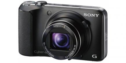 Sony Cyber-Shot DSC-HX10V: vista 3/4 frontale sinistra