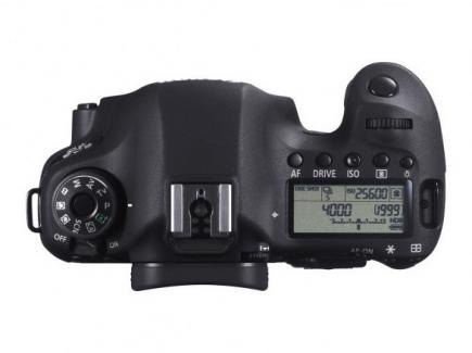 Canon EOS 6D: vista superiore