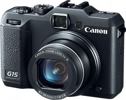 Canon PowerShot G15. vista 3/4 frontale