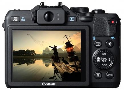 Canon PowerShot G15. vista posteriore