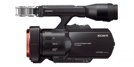 Sony NEX-VG900E: vista laterale sinistra
