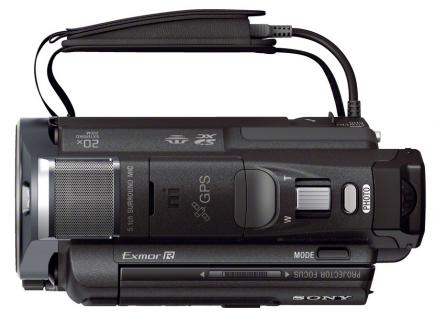 sony hdr-pj650ve top