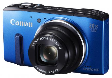 canon powershot sx270 hs 3/4 blu