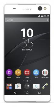 sony xperia c5 ultra dual fronte bianco