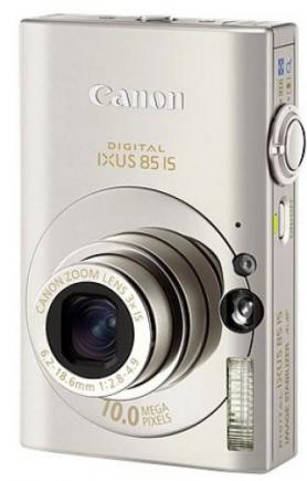 canon digital ixus 85 is 3/4 front