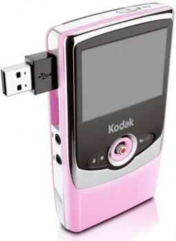 kodak zi6 3/4 pink porta USB