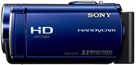 sony hdr-cx115e top