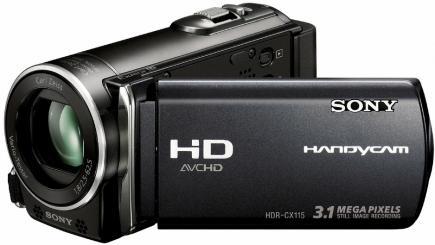 sony hdr-cx115e  3/4 black