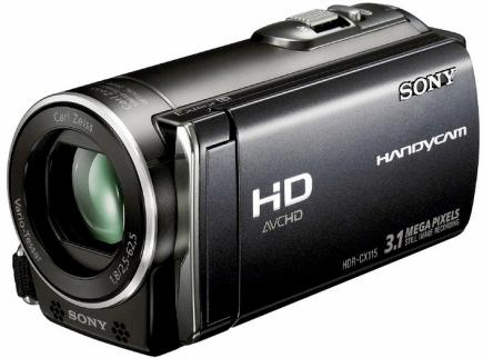 sony hdr-cx115e 3/4 red