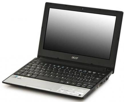 acer aspire one d255 3/4 sinistra silver