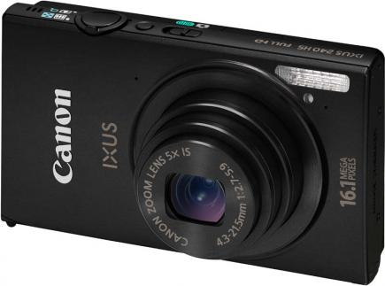 Canon IXUS 240 HS: vista 3/4 frontale black