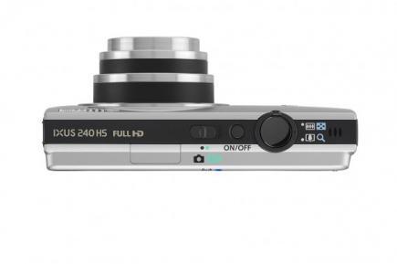 Canon IXUS 240 HS: vista superiore grey