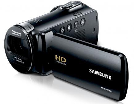 Samsung HMX-F80BP: vista 3/4 frontale black