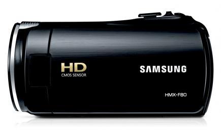 Samsung HMX-F80BP: vista laterale black