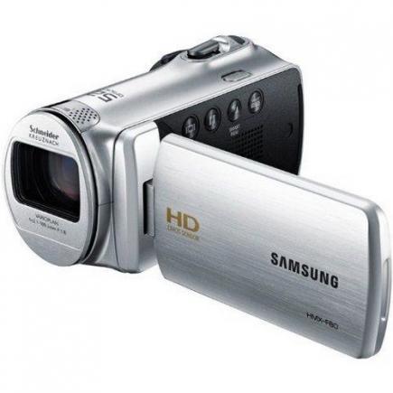 Samsung HMX-F80BP: vista 3/4 frontale grey