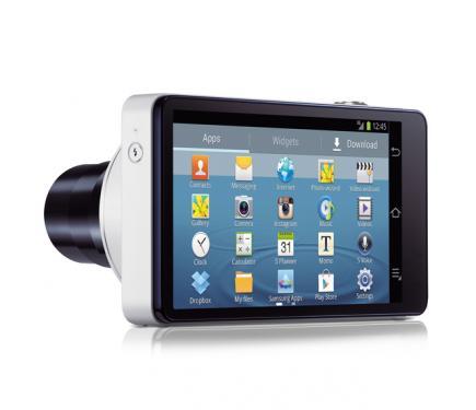 Samsung GALAXY Camera: vista 3/4 posteriore