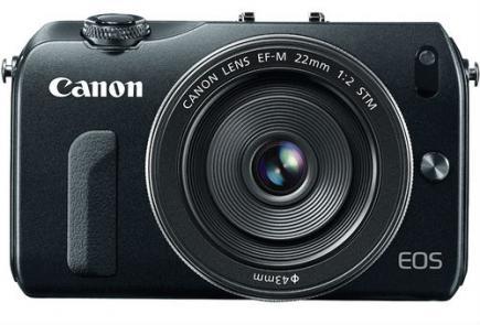 Canon EOS M: vista frontale black