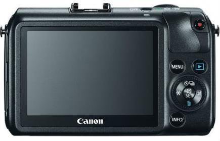 Canon EOS M: vista posteriore black