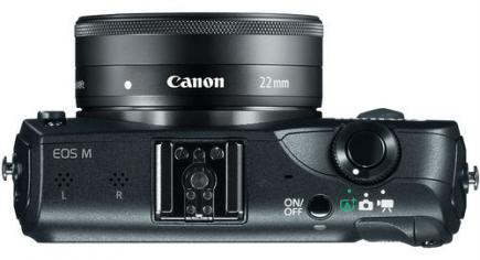 Canon EOS M: vista superiore black