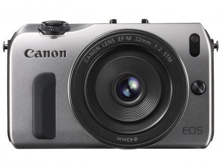 Canon EOS M: vista frontale grey