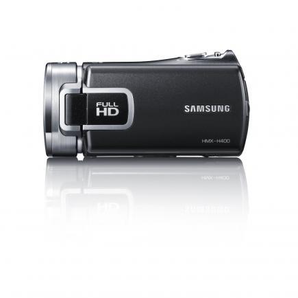 Samsung HMX-H400BP: vista laterale