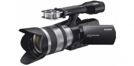 Sony NEX-VG20E: vista 3/4 sinistra