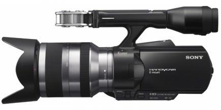 Sony NEX-VG20E: vista laterale sinistra