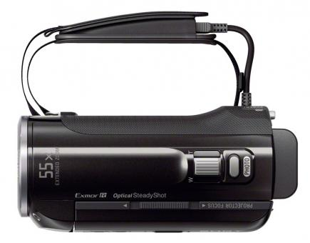 sony hdr-pj320e top