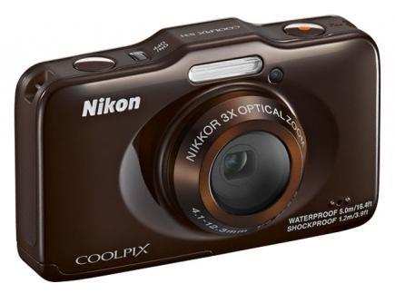 nikon coolpix s31 3/4 marrone