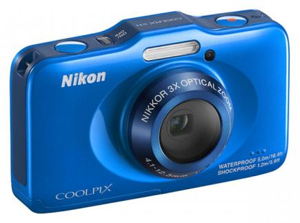 nikon coolpix s31 3/4 azzurra