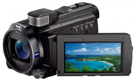 sony hdr-pj780ve 3/4 display aperto