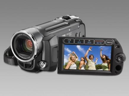 canon fs100 3/4 front lcd