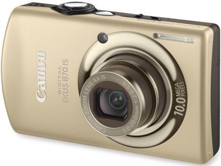 canon ixus 870 is 3/4