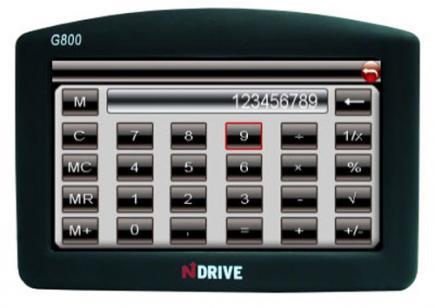 ndrive g800r fronte calcolatrice