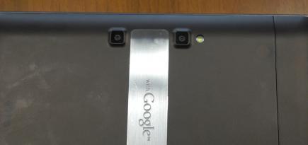 lg optimus pad live dettaglio fotocamera