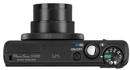 Canon PowerShot S100: Vista Superiore