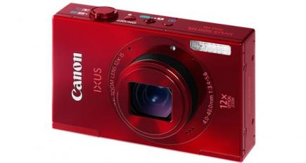 Canon IXUS 500 HS: vista 3/4 frontale red