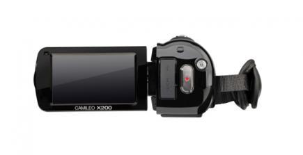 Toshiba Camileo X200: vista posteriore con display