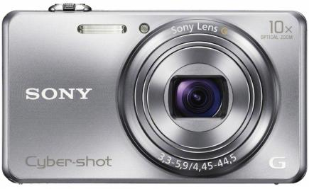 sony cyber-shot wx200 fronte argento
