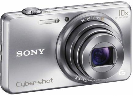sony cyber-shot wx200 3/4 argento