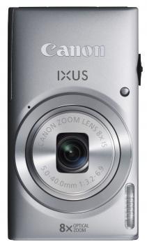 canon ixus 135 fronte verticale silver